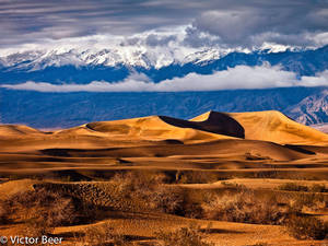 Clearing Storm over Mesquite Dunes - Death Valley